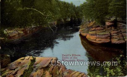 Devil's Elbow - Misc, Wisconsin WI Postcard