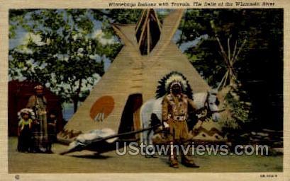 Winnebago Indians - Misc, Wisconsin WI Postcard