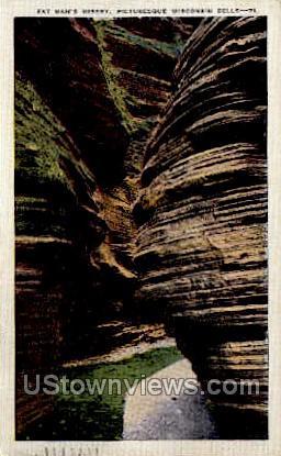 Fat Man's Misery - Misc, Wisconsin WI Postcard