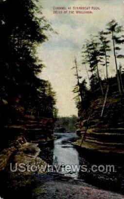 Steamboat Rock - Misc, Wisconsin WI Postcard