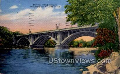 Capitol Drive Bridge - Misc, Wisconsin WI Postcard