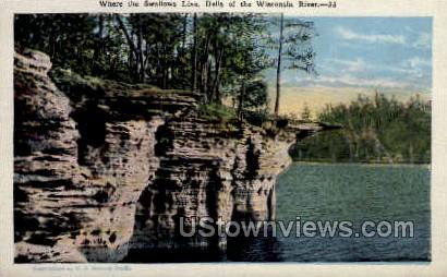 Where The Swallows Live - Misc, Wisconsin WI Postcard