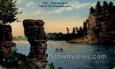 Chimney Rock - Misc, Wisconsin WI Postcard