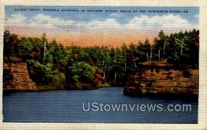 Sunset Point - Misc, Wisconsin WI Postcard