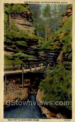 The Moss Hung Cliffs - Misc, Wisconsin WI Postcard