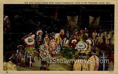 The War Dance - Misc, Wisconsin WI Postcard