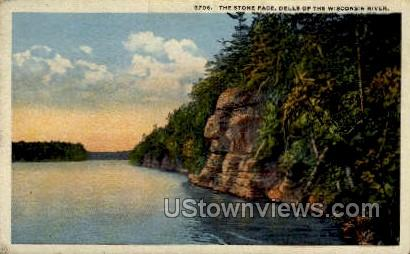 The Stone Face - Misc, Wisconsin WI Postcard