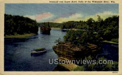 Inkstand and Sugar Bowl - Misc, Wisconsin WI Postcard