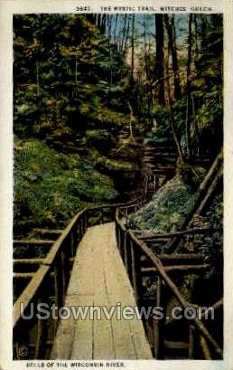 The Mystic Trail - Misc, Wisconsin WI Postcard