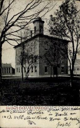 Old Court House - Manitowoc, Wisconsin WI Postcard