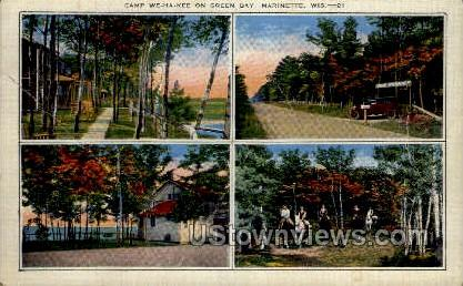 Camp We-Ha-Kee On Green Bay - Marinette, Wisconsin WI Postcard