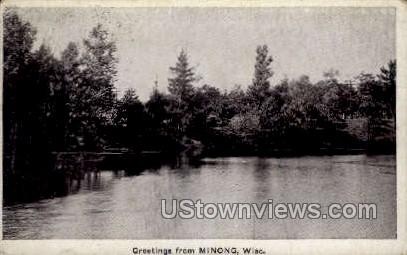 Greetings From - Minong, Wisconsin WI Postcard