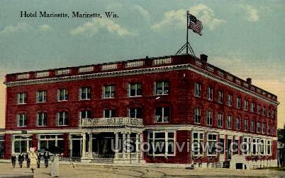 Hotel Marinette - Wisconsin WI Postcard