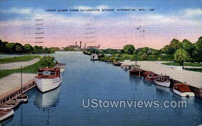 Yacht Basin - Marinette, Wisconsin WI Postcard