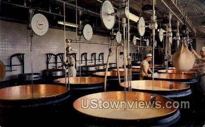 Green County Swiss Cheese Factory - Monroe, Wisconsin WI Postcard