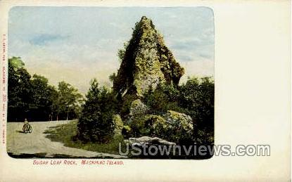 Sugar Loaf Rock - Mackinac, Wisconsin WI Postcard