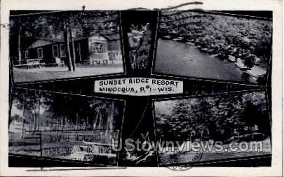 Sunset Ridge Resort - Minocqua, Wisconsin WI Postcard