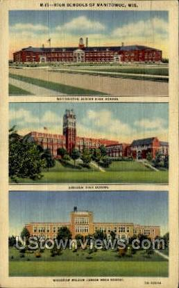 High Schools Of Manitowoc - Wisconsin WI Postcard