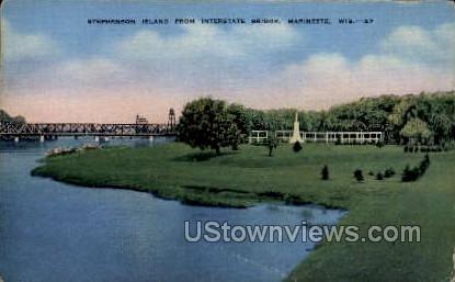 Stephenson Island - Marinette, Wisconsin WI Postcard