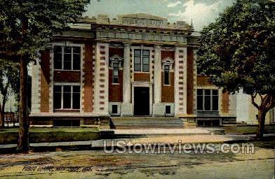 Public Library - Manitowoc, Wisconsin WI Postcard