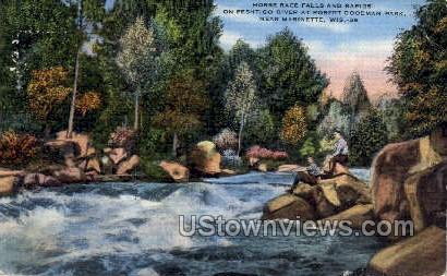 Horse Race Falls  - Marinette, Wisconsin WI Postcard