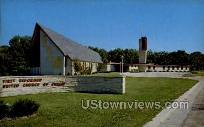 First Reformed United Church - Manitowoc, Wisconsin WI Postcard