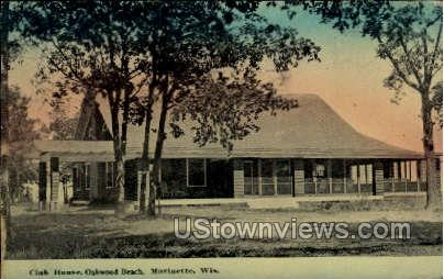 Club House - Marinette, Wisconsin WI Postcard