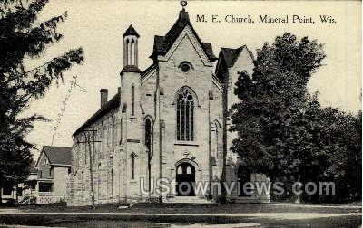M. E. Church  - Mineral Point, Wisconsin WI Postcard