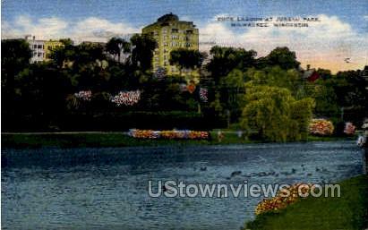Duck Lagoon - MIlwaukee, Wisconsin WI Postcard