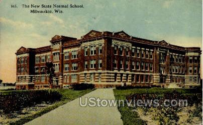 The New State Normal School - MIlwaukee, Wisconsin WI Postcard