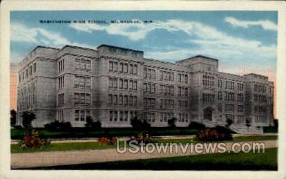 Washington High School - MIlwaukee, Wisconsin WI Postcard