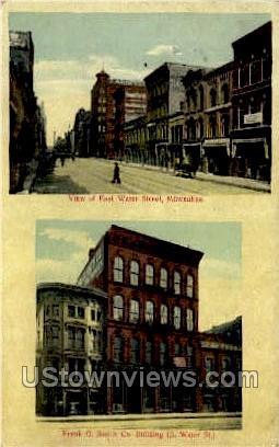 East Water Street - MIlwaukee, Wisconsin WI Postcard
