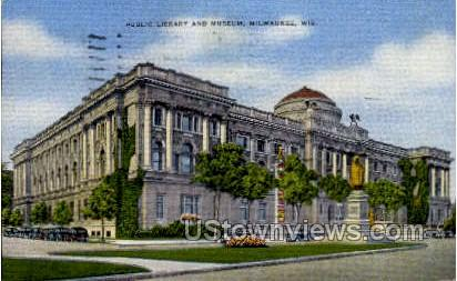 Bublic Library And Museum - MIlwaukee, Wisconsin WI Postcard
