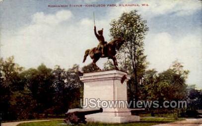 Kosciusco Statue  - MIlwaukee, Wisconsin WI Postcard