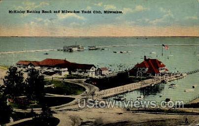 Mckinley Bathing Beach - MIlwaukee, Wisconsin WI Postcard
