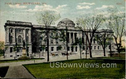 Public Library - MIlwaukee, Wisconsin WI Postcard