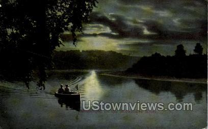 Milwakee River - MIlwaukee, Wisconsin WI Postcard