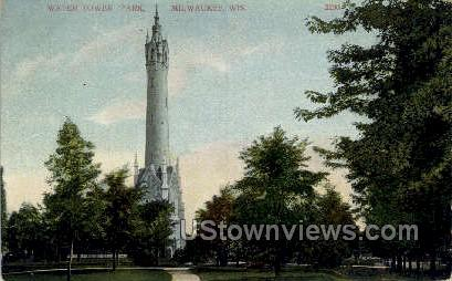 Water Tower Park - MIlwaukee, Wisconsin WI Postcard
