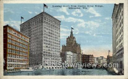 Oneida Street Bridge  - MIlwaukee, Wisconsin WI Postcard