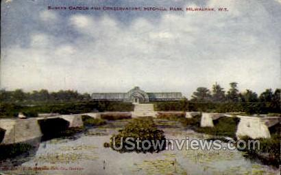 Sunken Garden And Conservatory - MIlwaukee, Wisconsin WI Postcard
