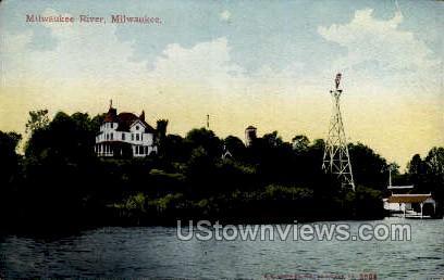 Milwaukee River  - Wisconsin WI Postcard