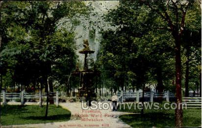 Eighth Ward Park - MIlwaukee, Wisconsin WI Postcard