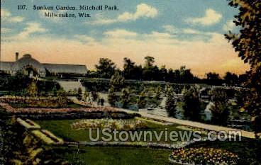 Sunken Garden At Mitchell Park - MIlwaukee, Wisconsin WI Postcard