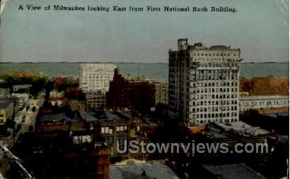 First National Bank Building - MIlwaukee, Wisconsin WI Postcard
