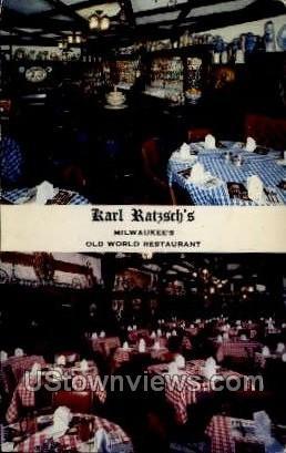 Karl Ratzsch's Restaurant - MIlwaukee, Wisconsin WI Postcard
