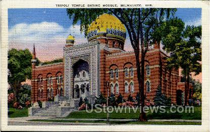 Temple Shrine Mosque - MIlwaukee, Wisconsin WI Postcard