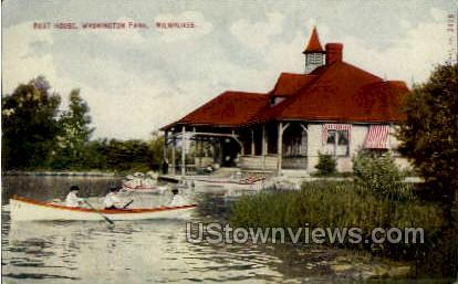 Boat House  - MIlwaukee, Wisconsin WI Postcard