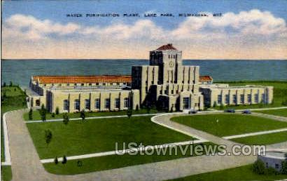 Water Purification Plant - MIlwaukee, Wisconsin WI Postcard