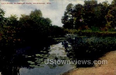 Lily Pond - MIlwaukee, Wisconsin WI Postcard