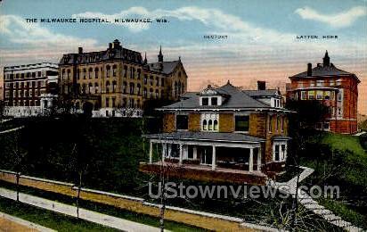 The Milwaukee Hospital - Wisconsin WI Postcard